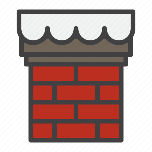 chimney, christmas, rooftop, winter icon