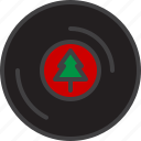 cristmass, music, record, retro, vinyl icon