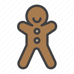biscuit, cookie, cristmass, gingerbread, man icon