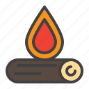 bonfire, campfire, fire, fireplace, firewood, wood icon