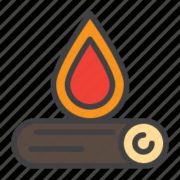 bonfire, campfire, fire, fireplace, firewood, wood icon