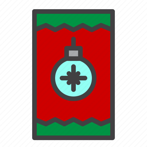 card, cristmass, greeting, message icon