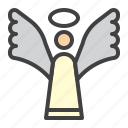 angel, cristmass, halo, holy, wing icon