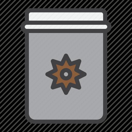 decoration, jar, mason, star icon