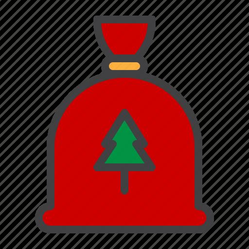 bag, claus, cristmass, gift, present, santa icon