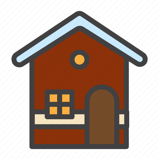 baked, cookie, cristmass, gingerbread, house icon