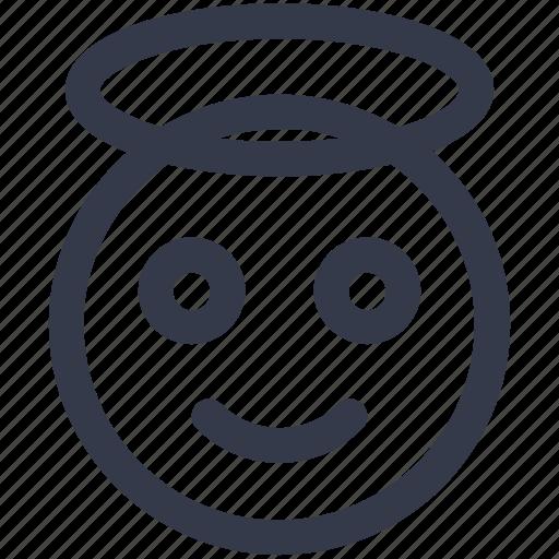 angle, emoji, emoticons, face, great, happy, smiley icon icon