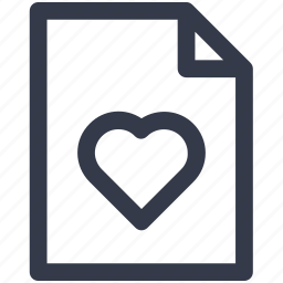 document, file, heart, page, pages, sheet icon icon