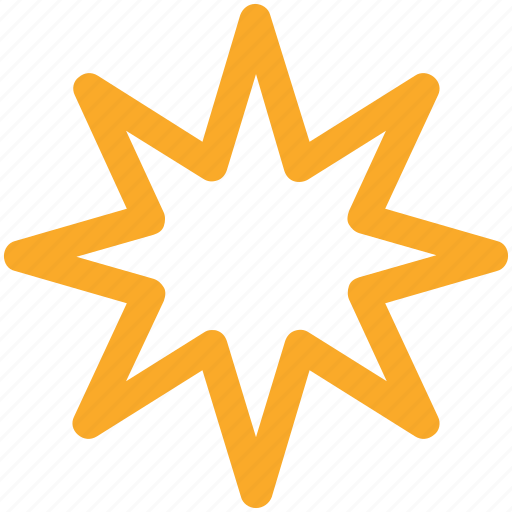 abstract, christmas, shape, star icon icon