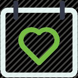 calander, calender, christmas, day icon, heart, love icon