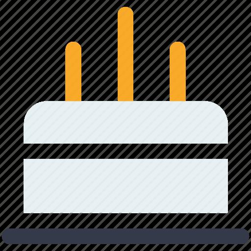 birthday cake, cake, candle, celebration, christmas cake icon icon