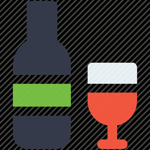 beverage, christmas, drink, ornaments, wine icon icon