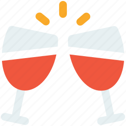 champagne, christmas, drink, glass, party icon icon