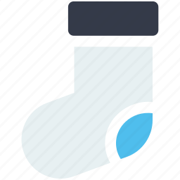 christmas, clothes, clothing, cold, fireplace, sock, winter icon icon