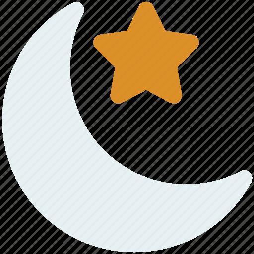 christmas, hat, moon, night icon icon