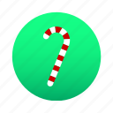 candy, candy cane, cane, christmas, decoration, snack, sweet icon
