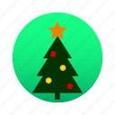 christmas, christmas tree, decoration, ornament, pine, tree, xmas icon