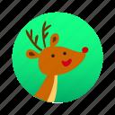 christmas, deer, reindeer, rudolph, santa, santa claus, xmas icon