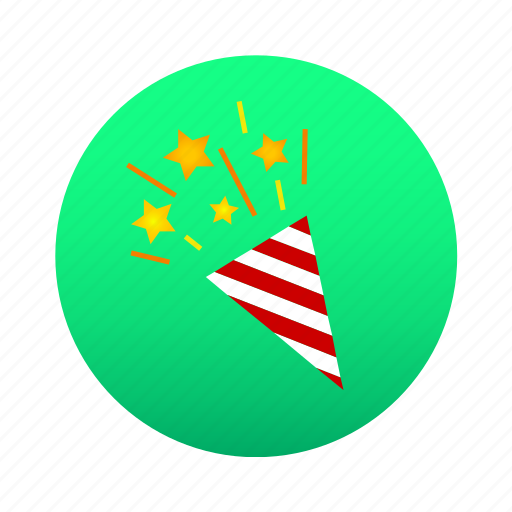 birthday, cerebrate, christmas, new year, party, party popper, popper icon