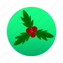 christmas, decoration, holidays, holly, luck, mistletoe, xmas icon