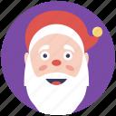 santa beard, santa claus, santa closeup, santa mask, symbol of santa icon
