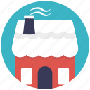 christmas house, home with snow, snow house, snowy christmas, winter season icon