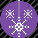 christmas decoration, decorative elements, festive decor, hanging snowflakes, snowflake icon