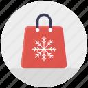 christmas sale, christmas shopping, christmas shopping bag, winter sale, winter shopping bag icon