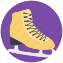 ice skating, skateboard shoes, winter season, winter skates, winter sports icon