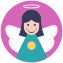 angel, fairy, fairy angel, flying fairy, peace symbol icon