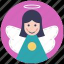 angel, fairy, fairy angel, flying fairy, peace symbol icon