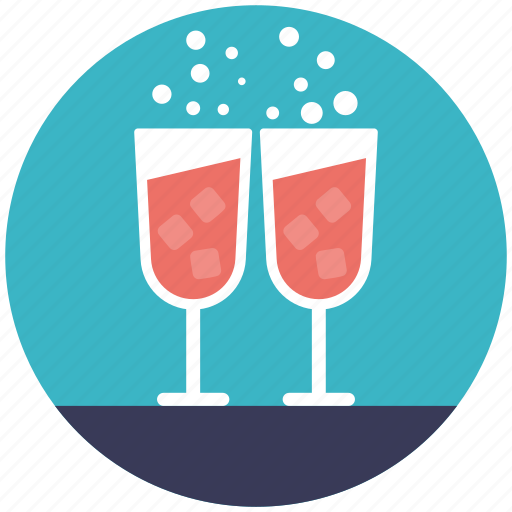 alcohol party, beverage, cold drink, red wine, wine glasses icon