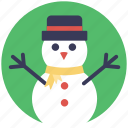 cartoon snowman, granular snow, mantle of snow, snow sculpture, snowman icon
