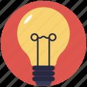 bulb, electricity bulb, lamp light, light, light bulb icon
