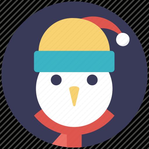 cartoon snowman face, christmas character, snowman, snowman face, snowman head icon