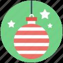 bauble, bauble ball, christmas ball, christmas bauble, decoration element icon