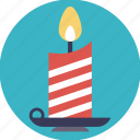 candle, candlelight, candlestick, celebration, christmas candle, decoration element icon