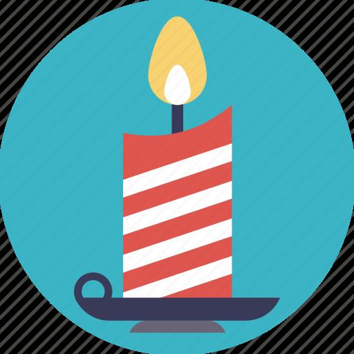 candle, candlelight, candlestick, celebration, christmas candle, decoration element icon