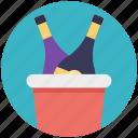 alcohol. alcoholic bottles, beer bottles, beverage, liquor, three bottles icon