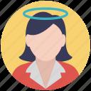 cartoon girl, faceless, faceless women, female character, girl, girl avatar icon