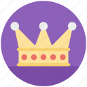 crown, golden crown, king crown, princes crown, royal symbol icon