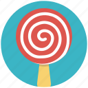 candy, lollipop, lollipop candy, lolly stick, swirl lollipop icon