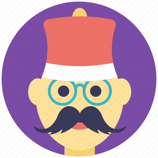 cartoon man, christmas hipster, funny man, male character, serious man icon
