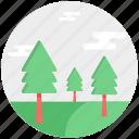 christmas trees, fir trees, larch trees, pine trees, poplar trees, tree icon