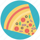 bakery item, cheez pizza, fast food, food, pizza slice icon