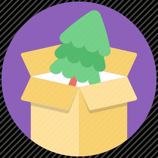 christmas celebration, christmas gift, christmas package, decoration distribution, pine box icon