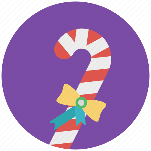 candy, candy cane, candy stick, candy with bow, confetti icon
