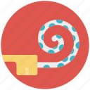 christmas blower, entertainment, party blower, party horn blower, party whistle icon