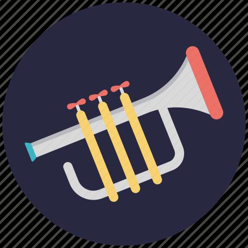 bugle, musical instrument, trombone, trumpet, tuba icon
