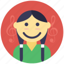 cute girl, happy girl, little cartoon girl, little girl, smiling girl icon